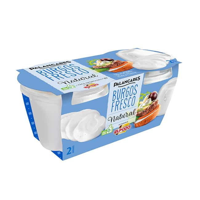 Queso Fresco Burgos Natural pack 2