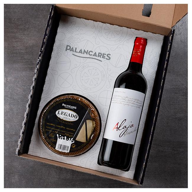 lote queso legado ibérico y vino